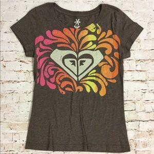 Roxy Brown Logo T Shirt